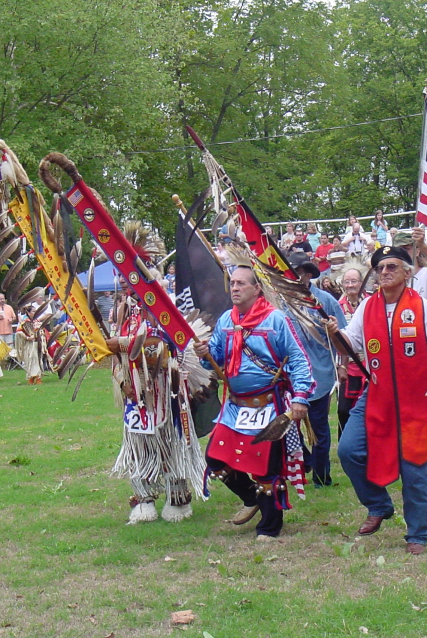 Keith Little Badger participates in Powwow Grand Entry with Veterans